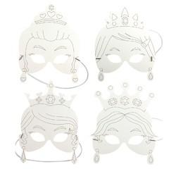 Achat en ligne Set de 4 masques princesses à colorier