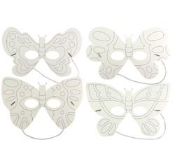 Achat en ligne Set de 4 masquespapillons à colorier