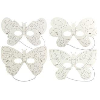 Set de 4 masquespapillons à colorier
