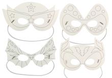 Achat en ligne Set de 4 masques super héros à colorier