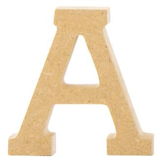 Lettre A à décorer en bois 5cm