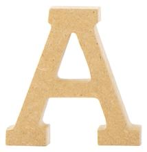 Achat en ligne Lettre A majuscule à décorer en bois 5cm