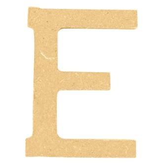 Lettre E à décorer en bois 5cm