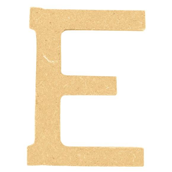 Lettera E da decorare in legno 5cm