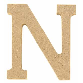 Lettre N à décorer en bois 5cm