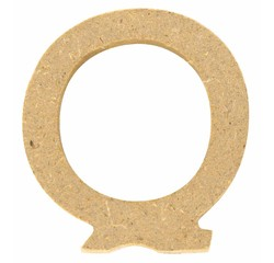 Achat en ligne Lettre Q à décorer en bois 5cm