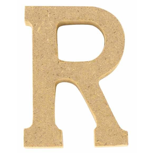 Lettre R à décorer en bois 5cm
