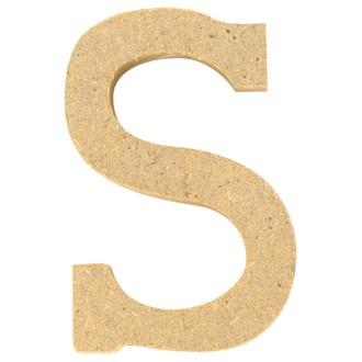 Lettre S à décorer en bois 5cm
