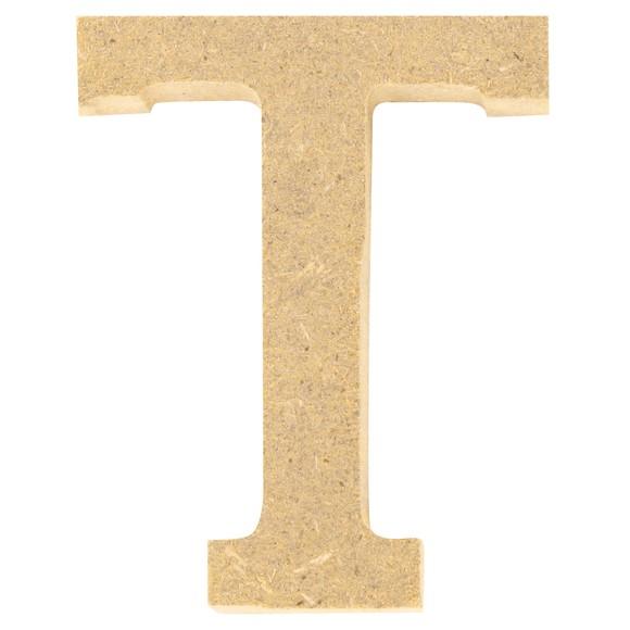 Lettre T à décorer en bois 5cm