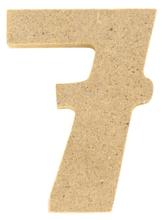 Achat en ligne Chiffre 7 à décorer en bois 5cm