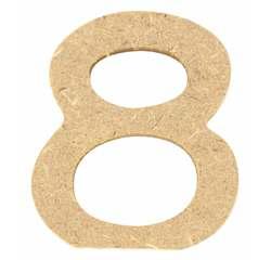 Achat en ligne Chiffre 8 à décorer en bois 5cm