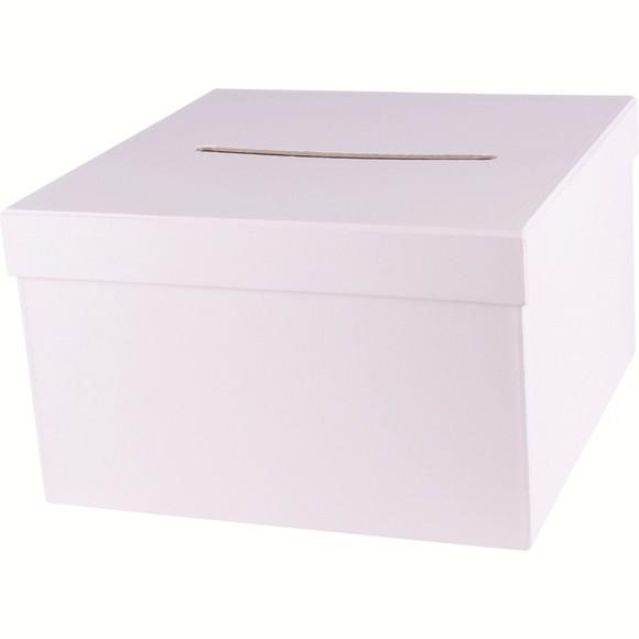 acquista online Scatola quadrata cartone bianco 24,5x24,5x15cm