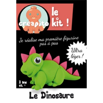 Kit le Dinosaure en pâte à modeler vert Creapito