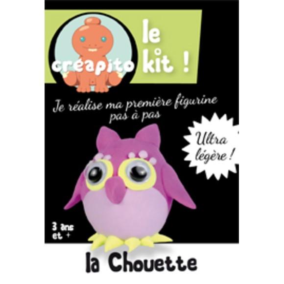 Achat en ligne Kit la chouette en pâte à modeler violet Creapito