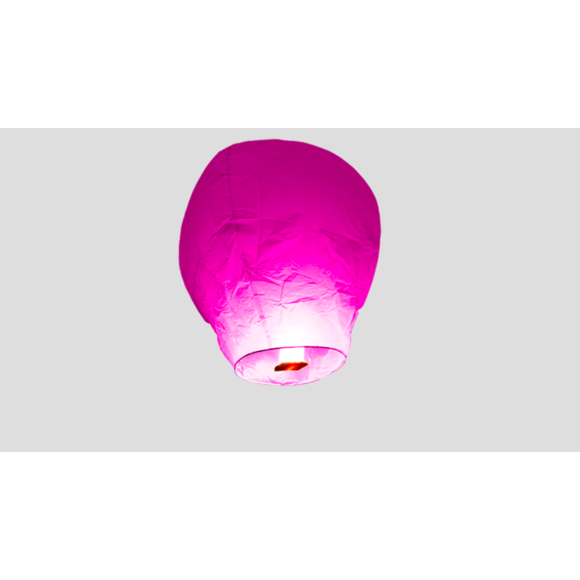 Lanterne volante rose