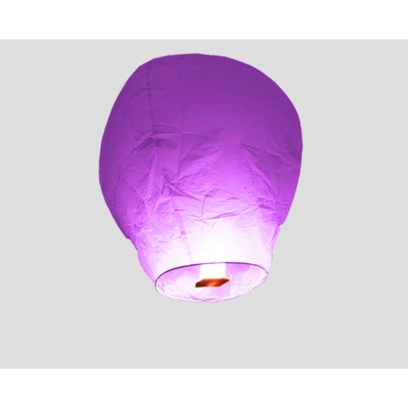 Lanterne volante parme