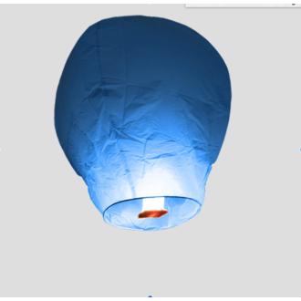 Lanterne volante bleue