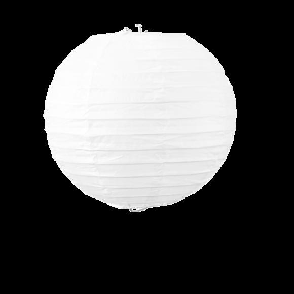 Suspension boule japonaise en papier blanc 20cm