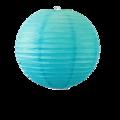Suspension boule japonaise en papier turquoise 30cm