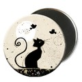 Magnet rond chat 5,5cm - MCH002