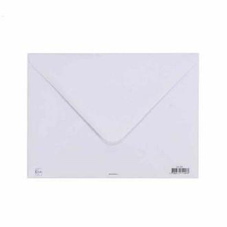 KIUB- Enveloppe blanche 100gr 15x21cm