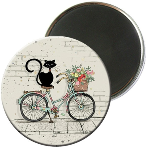Magnet rond chat 5,5cm - MCH010