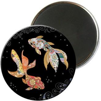 KIUB - Magnet rond jewels poisson 5,5cm - MAGR03C10