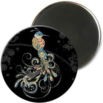 KIUB - Magnet rond jewels oiseau 5,5cm - MAGR03C11