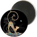 Magnet rond jewels chat 2 5,5cm - MAGR03C13