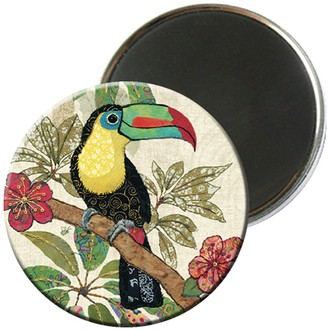 KIUB - Magnet rond amys toucan 5,5cm - MAGR04D09