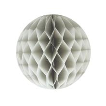 Achat en ligne Boule festonée grise 15cm