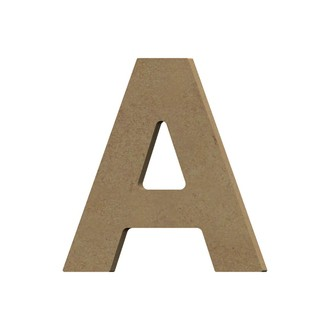 Lettre A à décorer majuscule en bois 12cm