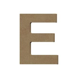 Lettre E à décorer majuscule en bois 12cm