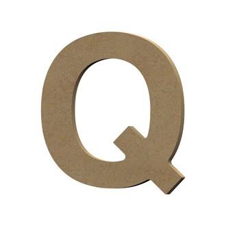 Lettre Q à décorer majuscule en bois 12cm