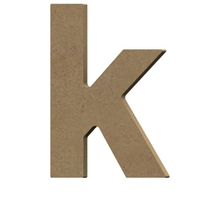 Achat en ligne Lettre K à décorer minuscule en bois 9cm