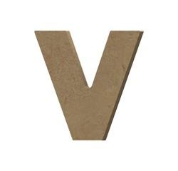 Achat en ligne Lettre V à décorer minuscule en bois 9cm