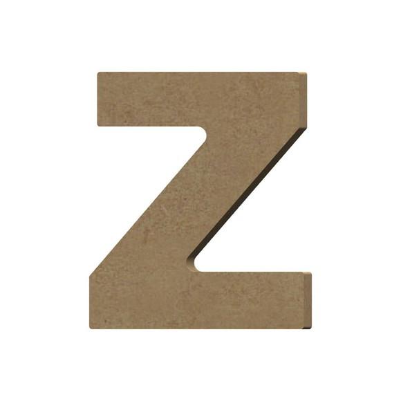 Lettre Z à décorer minuscule en bois 9cm