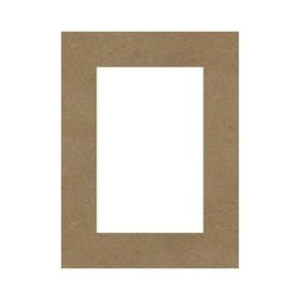 Rectangle évidé à décorer en bois 40x50cm