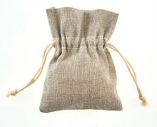 Achat en ligne 6 pochettes en lin gris 7,7x10 cm
