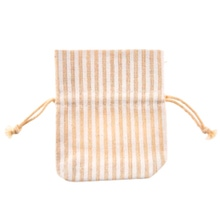 Achat en ligne 4 pochettes blanches avec rayures beiges 8x10 cm