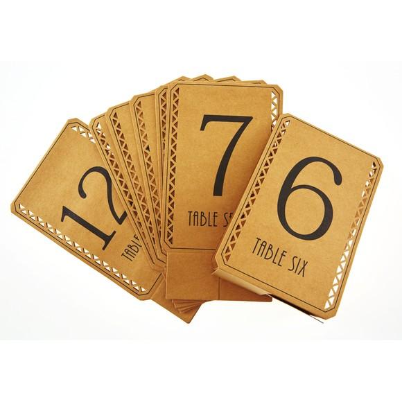 Lot de marque places numérotés de 1 à 12
