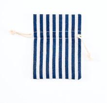 Achat en ligne 4 pochettes à rayure bleu 8x10 cm
