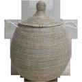 Panier linge Doum blanc h50cm