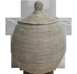 Achat en ligne Panier linge Doum blanc h50cm