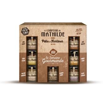 Le comptoir de mathilde - coffret semainier de pâte à tartiner 7x30g