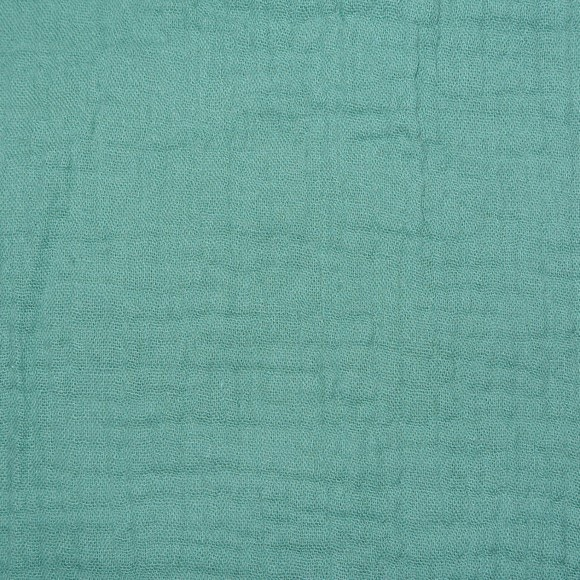 Double gaze gaufrée eucalyptus coupon 300x130cm 135gr