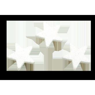 12 étoiles pailletées 4 cm blanc