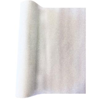 Chemin de table blanc pailleté iridescent