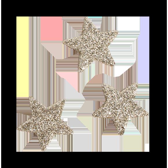 12 étoiles pailletées 4 cm or
