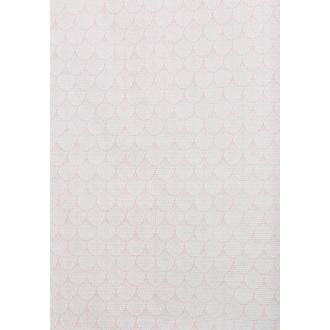 Rouleau de nappe gaufré paon géométrique cuivre 1,20x5m